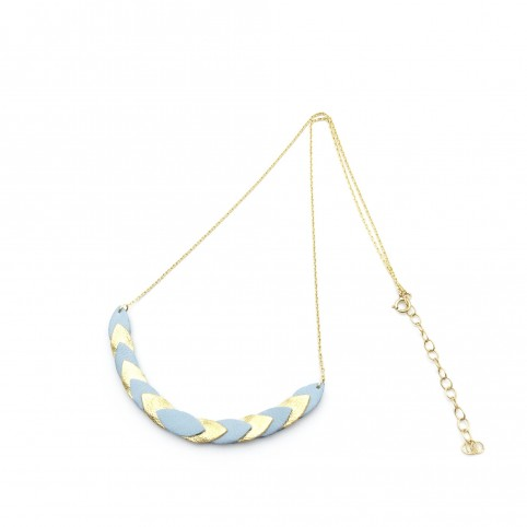 Collier Volta - Bleu pastel & Or