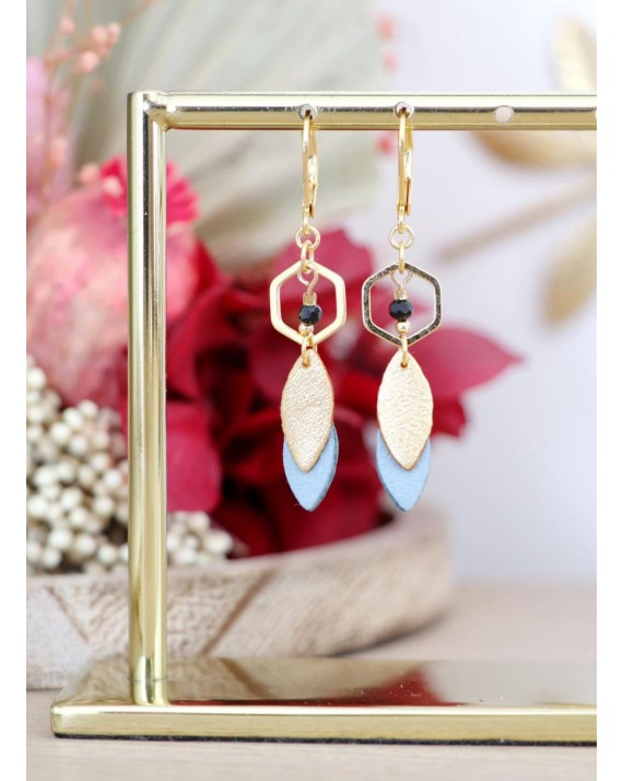 Boucles d'oreilles June - Terracotta & Or